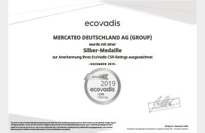 Ecovadis certifikát